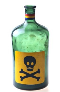 Green poison bottle