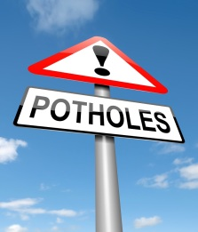 Potholes sign